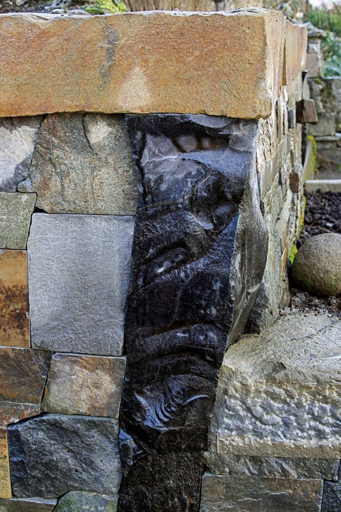 Eric Contey Stonework - Giraud terraced retaining wall detail