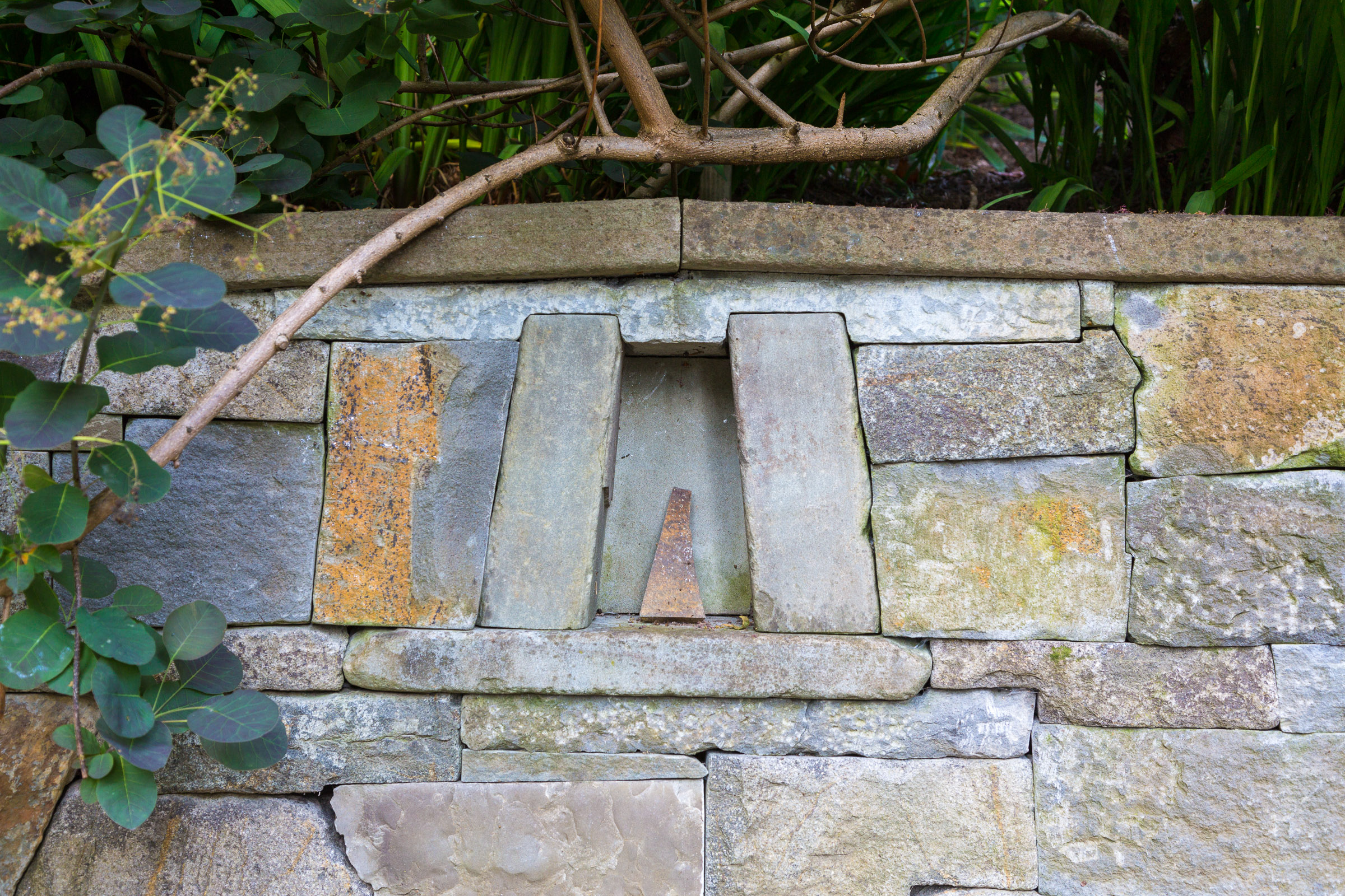 Eric Contey Stonework - James wall detail with custom niche